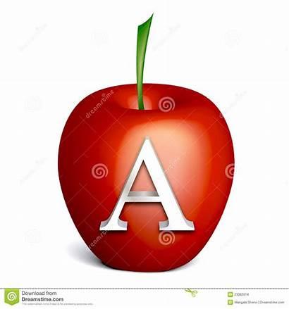 Alphabet Apple Appel Rode Alfabet Pomme Alfabeto
