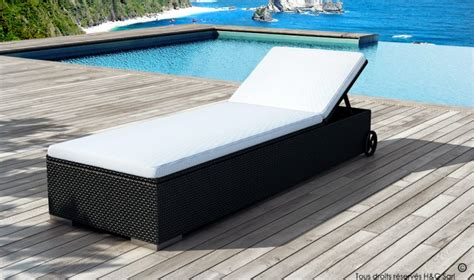 chaise longue pas chere achat bain de soleil en résine tressée lit de piscine en résine tressée de haute qualité
