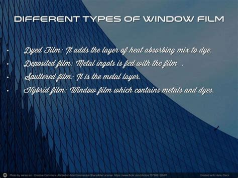 Different Types Of Window Film