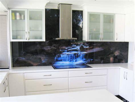 decorative backsplashes kitchens printed glass splashback