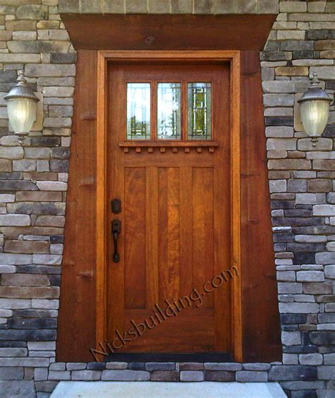 mission style front door arts and crafts doors craftsman style doors mission