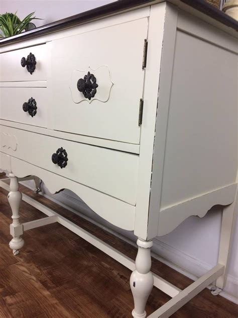 farmhouse style buffet  antique white general finishes