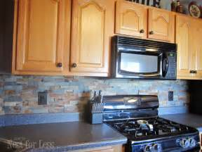 rock kitchen backsplash kitchen backsplash how to nest for less