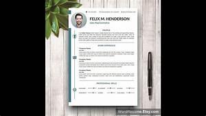 Vitae Resume Resume Template Cover Letter Portfolio For Ms Word
