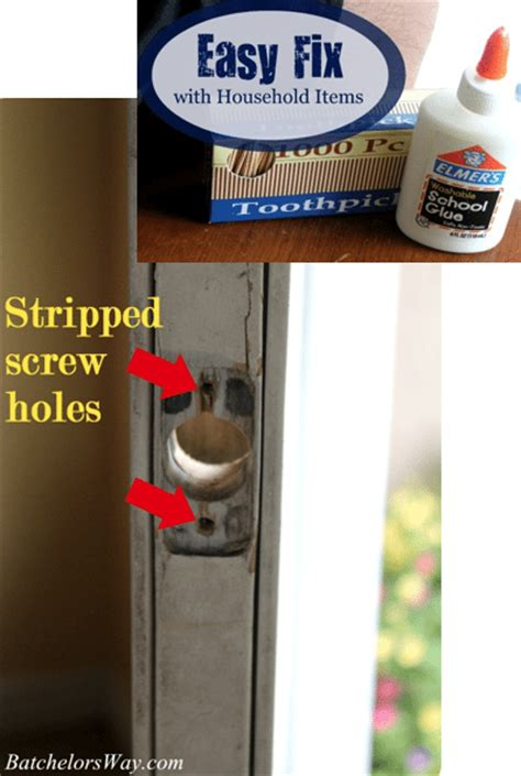 how to fix stripped in wood how to fix a stripped screw hole with household items sawdust girl 174