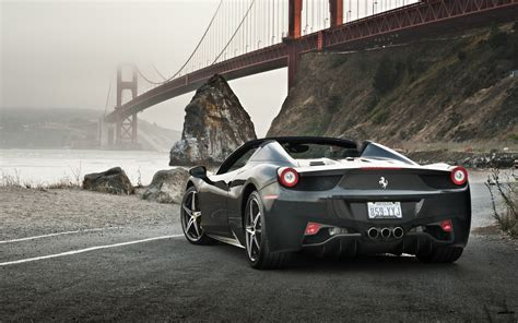 ferrari road bridge ferrari  spider wallpapers hd
