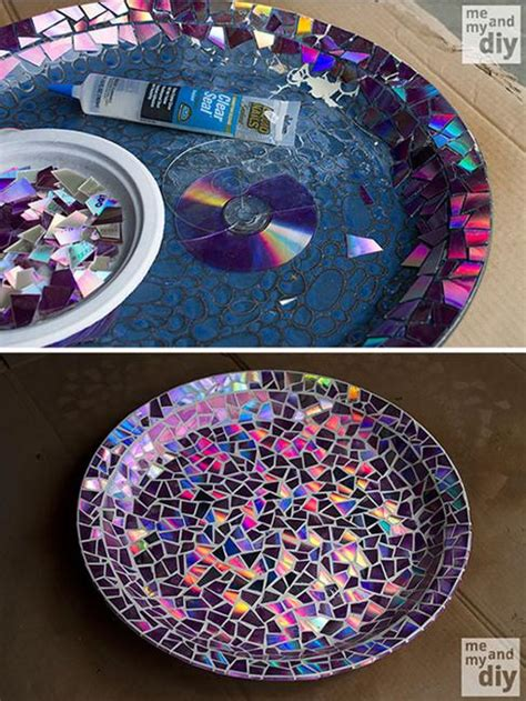 recycling ideas turning cds  recycled crafts