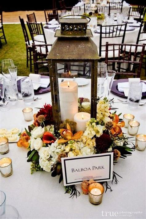 24 Adorable Fall Wedding Centerpieces to Rock WeddingInclude