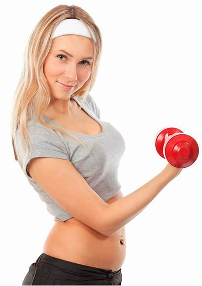 Fitness Female Clipart Working Dumbbell Young Transparent