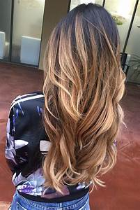 Ombré Hair Blond Foncé : 17 best images about long hairstyles idaes 2017 on pinterest long hairstyles layered ~ Nature-et-papiers.com Idées de Décoration