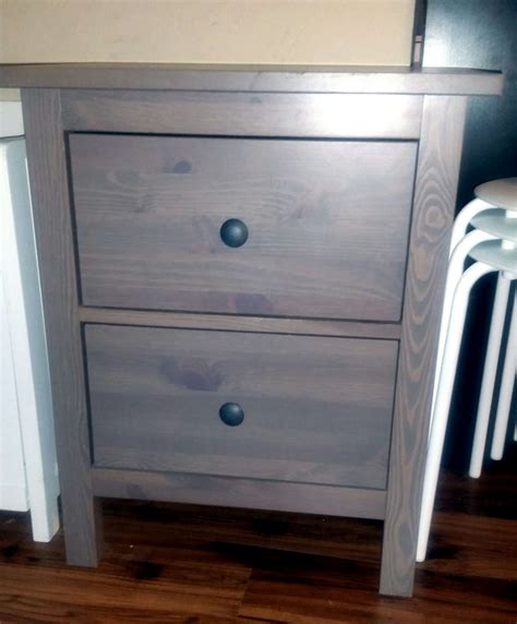 Hemnes Nightstand Gray Brown by Ikea Hemnes 2 Drawer Nightstand Gray Brown Discontinued