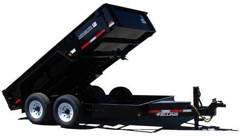 drop deck dump trailers series felling trailers