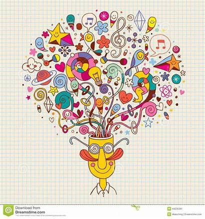 Creative Thinking Creativo Cartoon Pensiero Denken Concept