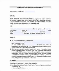 consulting fee agreement template - consulting agreement form samples 8 free documents in
