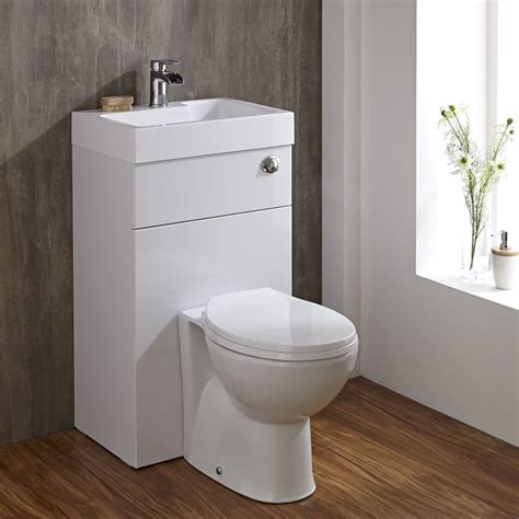 space saving bathrooms linton space saving bathroom white combination toilet wc basin sink unit space saving