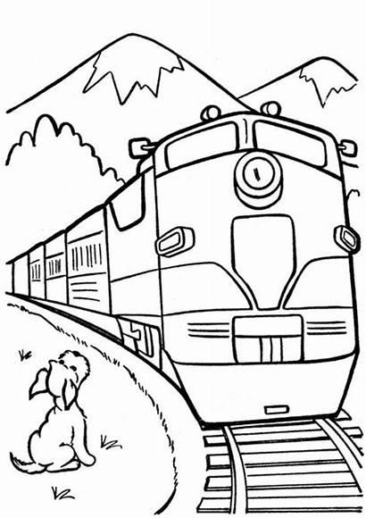 Train Coloring Tulamama Easy Printable Trains Cars