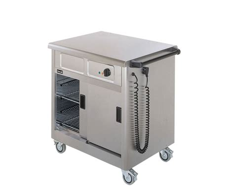 Lincat Gbm2 Mobile Hot Cupboard With Bain Marie And Sneeze