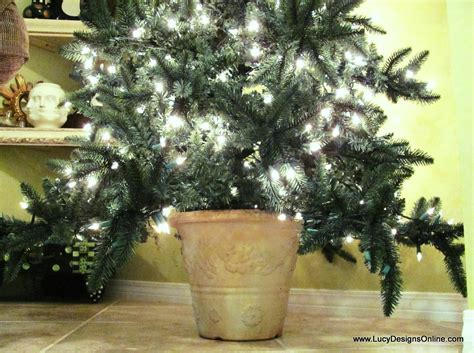 artificial christmas tree in a planter pot diy lucy designs
