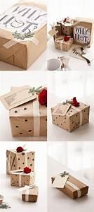 Cadeau Noel Original : emballage papier kraft cadeau noel original picslovin ~ Melissatoandfro.com Idées de Décoration