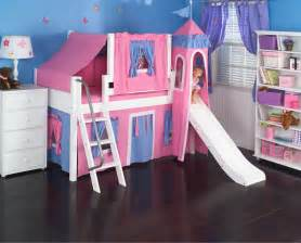Barbie Curtains by Pink Princess Castle Bed With Slide By Maxtrix Kids 370
