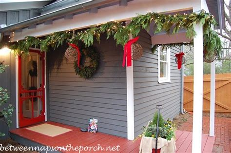 garland for decorating fences decorating ideas for porches doors and windows