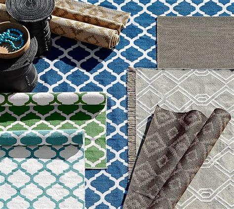 becca tile reversible indooroutdoor rug blue pottery barn
