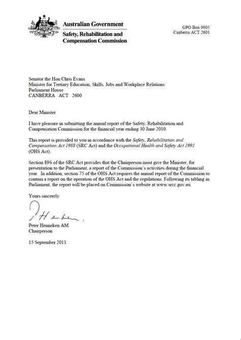 letter of transmittal srcc annual report 2010 11 srcc annual report 2010 11 75266