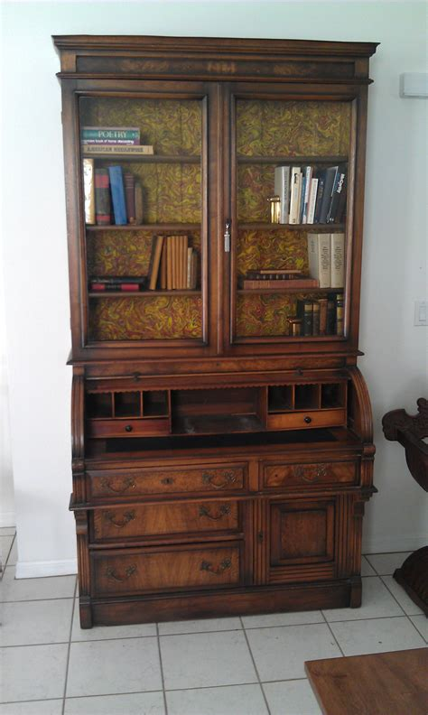 antique desk with bookcase furniture drop front desk with hutch and