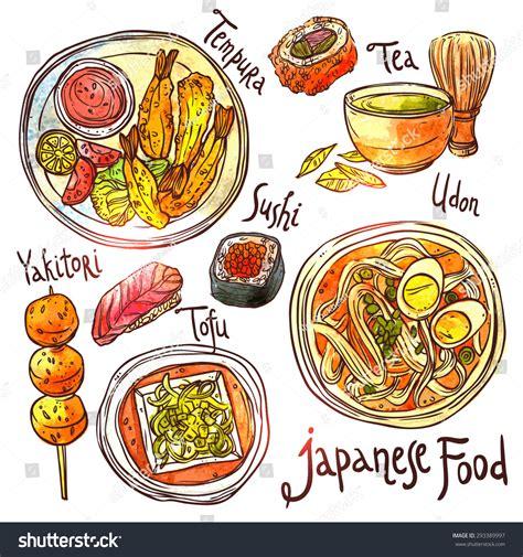 cuisine illustration food watercolor illustration japanese