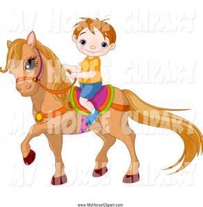 Free Clip Art Riding a Pony