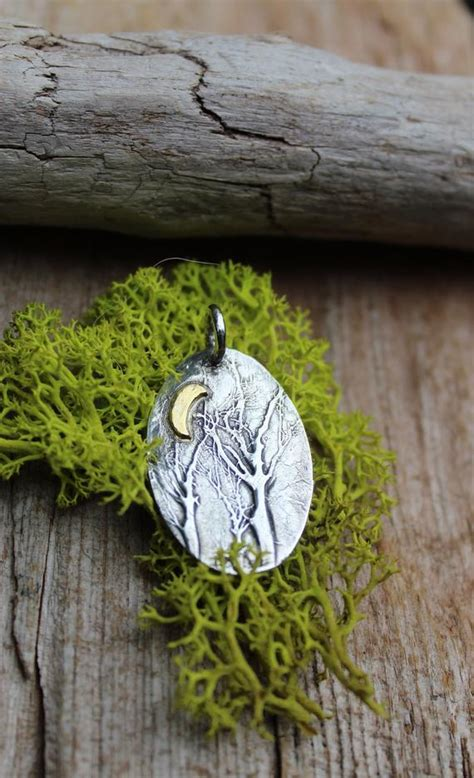 sterling forest trees sterling silver forest pendant enchanted forest jewelry tree etsy