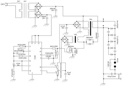 Tgb Wiring Schematic by High Voltage Power Supply Scheme Circuit Diagram World