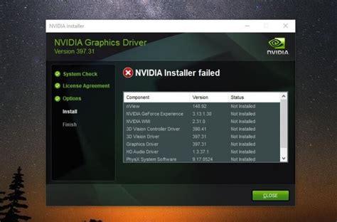 fix nvidia installer failed nvidia installer cannot continue bouncegeek