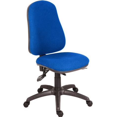 blue desk chair ergo plus 24 hour operator chair without arms blue staples 174