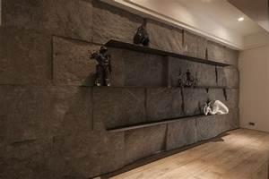 Wand Mit Steinoptik : 100 neue ideen f r wandgestaltung mit naturmaterialien ~ Watch28wear.com Haus und Dekorationen