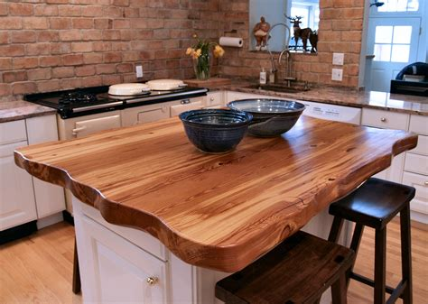 kitchen island countertop reclaimed longleaf pine wood countertop photo gallery by