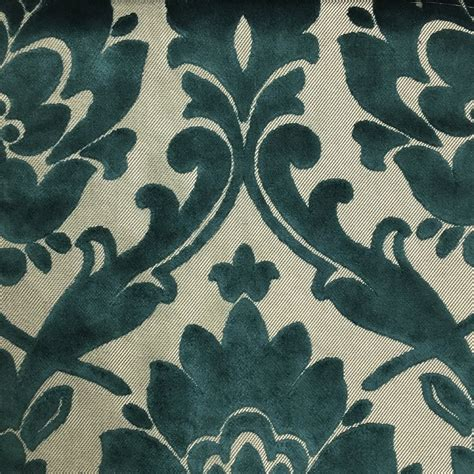 Velvet Upholstery Fabric by Radcliffe Damask Pattern Lurex Burnout Velvet Upholstery