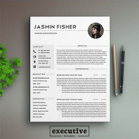 12319 modern executive resume template 12 best resume cv templates images on
