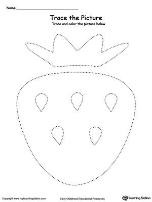 strawberry picture tracing myteachingstationcom