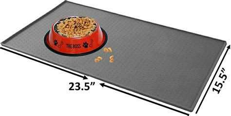 mr cuisine mr peanut 39 s pet food mat large gray chewy com