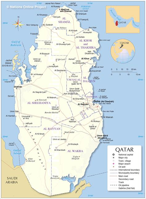 political map  qatar nations  project