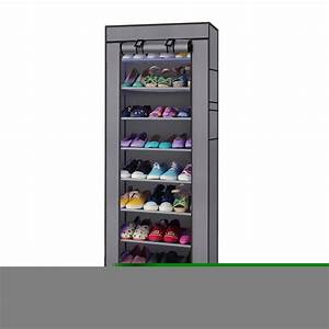 Ktaxon, 10, Layer, 9, Grid, Shoe, Rack, Shelf, Storage, Closet, Boot, Organizer, Cabinet, Portable