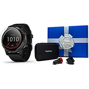 Amazon.com: Garmin vivoactive 4 (Black with Slate) Beat