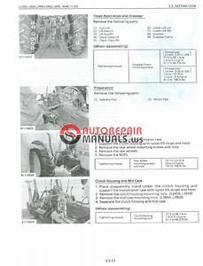 Kubota Tractor L2350 L2650 Gst L2950 Gst L3450 Gst L3650