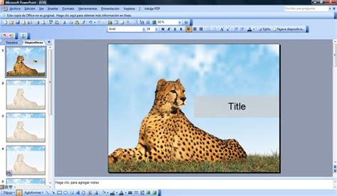 leopard  power point template