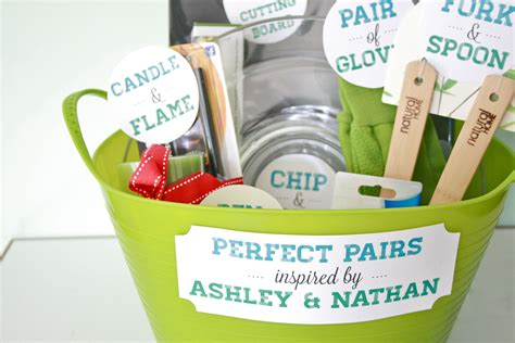 wedding shower gift basket ideas diy quot pairs quot bridal shower gift
