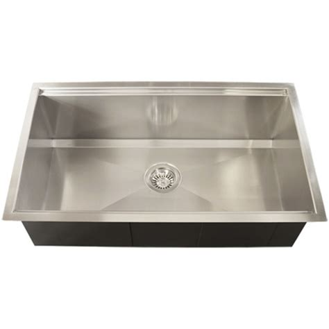 stainless steel square kitchen sinks ticor tr4000 undermount 16 stainless steel square 8296