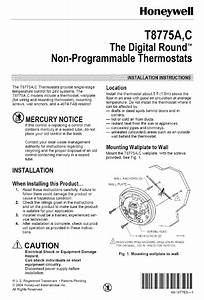Honeywell Thermostat T8775c User Guide