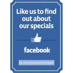 Like Us On Facebook Template for Business Sign
