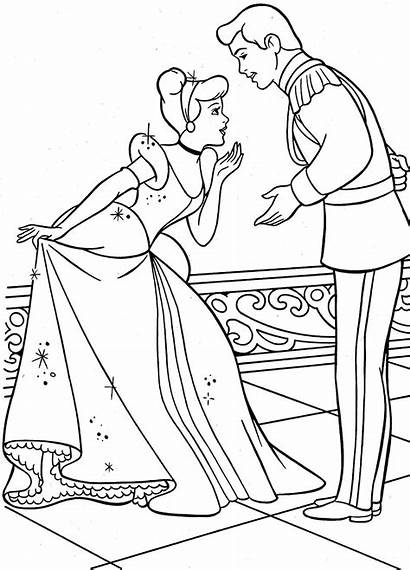 Cinderella Coloring Disney Princess Pages Games Printable